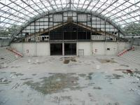 The main hall looking towards the back of the building.