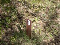 Metal Posts Mark 1000-foot Intervals