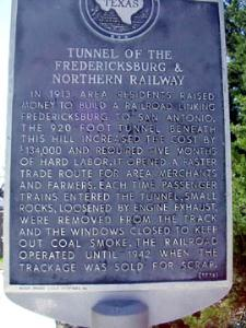Historical Marker for Bat Tunnel