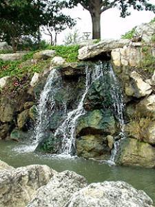 Waterfall on Waco Riverwalk