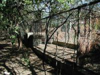 Rows of these cages held lions and alligators.