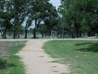 The hike and bike trail part of the trail system encircles numerous playgrounds and playing fields.