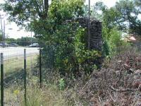 This stonework is all that can be seen from Lamar Blvd. and might have formed part of the entrance to the zoo.