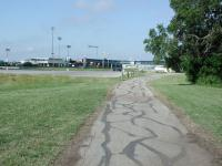 The southern end of the park's trail system passes right by the Dell Diamond, home of the Round Rock Express baseball team.