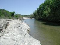 The area around Tejas Camp at mile marker 11 is a popular fishing spot.