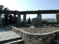 This pavilion marks the top of Mount Bonnell. it can often get crowded.