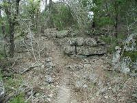 The terrain between mile 5 and 6 may be the most interesting. The trail gets very rough and ventures through numerous rock fields.