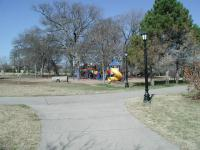 Pfluger Park has playscapes and picnic areas, so it will be the most crowded portion of the hike.