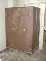 We hope that this interesting, old safe did not end up in a landfill.