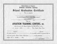 Flight certificate issued at Tim's Airpark, the name by which the airport was also known. <i>(Courtesy of Stuart Sibitzky)</i>