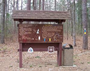 Four C trailhead in Ratcliff National Recreation Area