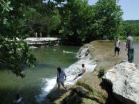 Main Falls provides the best swimming hole along the trail and wading opportunities to cool your heals.