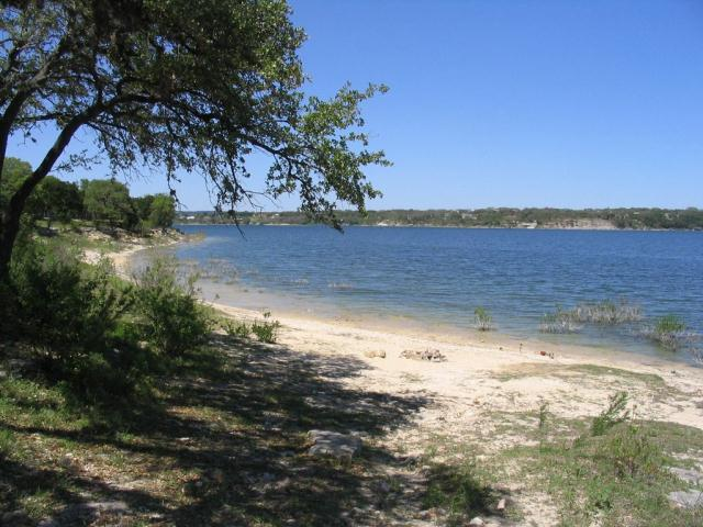 Campsite on the beach at Arkansas Bend