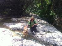 Zoey and I at the Waterfalls