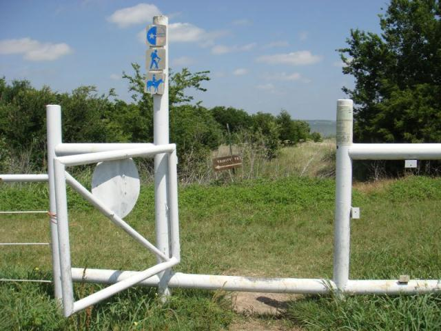 Crossing through the gate
